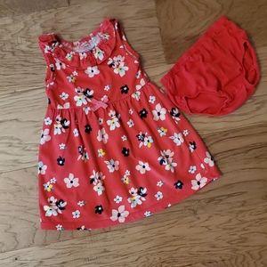 3/$15 Red Floral Dress Summer Sundress Ruffle